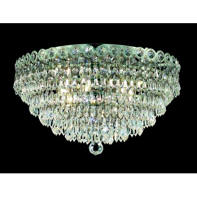 Colne 4-Light 14 Flush Mount Finish: Chrome, Crystal Grade: Royal Cut