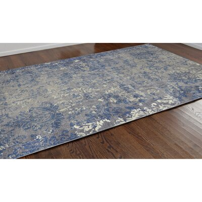 Landers Gray/Blue Area Rug Rug Size: 710 x 910
