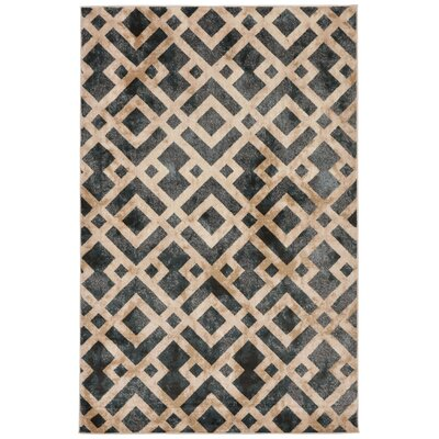 Lamphere Black/Brown Area Rug Rug Size: 33 x 411