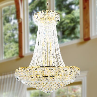 Carson 18-Light Empire Chandelier Finish: Gold