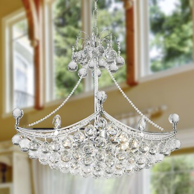 Carson 6-Light 40W Crystal Chandelier Finish: Chrome