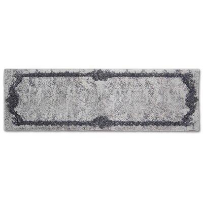 Verbrande Artifaq Tulos Gray Area Rug Rug Size: Runner 2 x 6