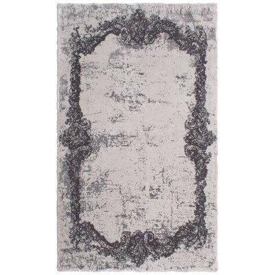 Verbrande Artifaq Tulos Gray Area Rug Rug Size: 375 x 225