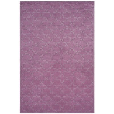 Gosport Hand-Tufted Dark Pink Area Rug Rug Size: Rectangle 6 x 9