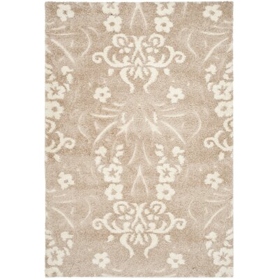 Flanery Light Beige Area Rug Rug Size: Rectangle 53 x 76