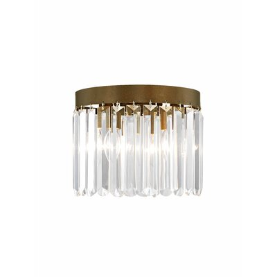 Caroline 3-Light Crystal Flush Mount Finish: Palacial Bronze