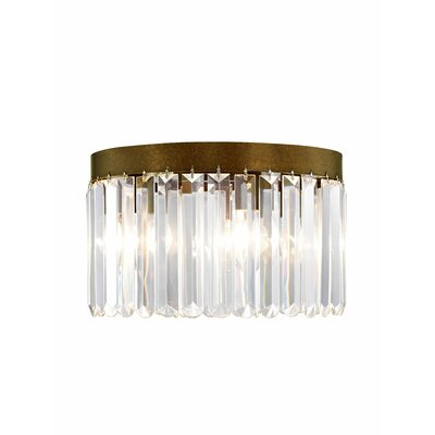 Caroline 4-Light Crystal Flush Mount Finish: Palacial Bronze
