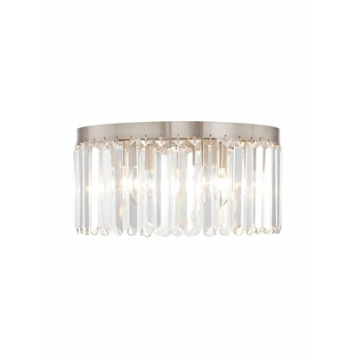 Caroline 5-Light Crystal Flush Mount Finish: Brushed Nickel