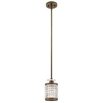 Wetzel 1-Light Mini Pendant Finish: Palacial Bronze