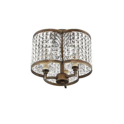 Wetzel 3-Light Drum Chandelier Finish: Palacial Bronze