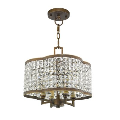 Wetzel 4-Light Crystal Chandelier Finish: Palacial Bronze