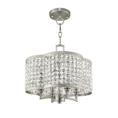 Wetzel 4-Light Crystal Chandelier Finish: Brushed Nickel