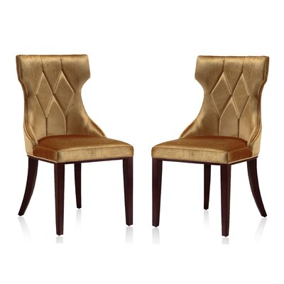Sutherland Upholstered Dining Chair Color: Antique Gold
