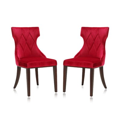 Sutherland Upholstered Dining Chair Color: Red