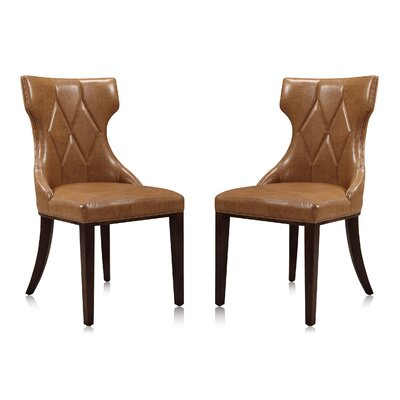 Sutherland Upholstered Dining Chair Color: Saddle