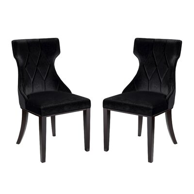 Sutherland Upholstered Dining Chair Color: Black