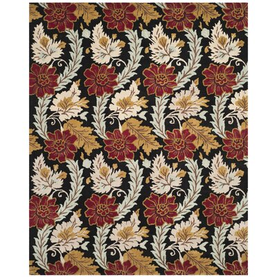 Hayne Black Area Rug Rug Size: Rectangle 8 x 10
