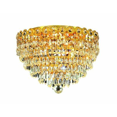 Colne 4-Light 14 Flush Mount Finish: Gold, Crystal Grade: Spectra Swarovski