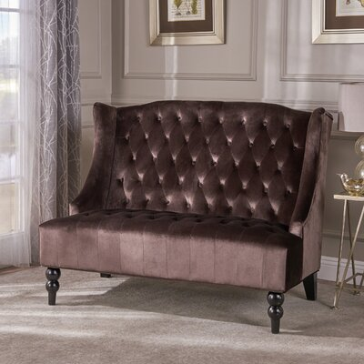 Carolina Standard Loveseat Upholstery: Chocolate