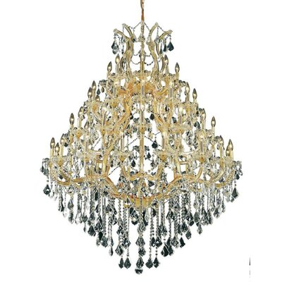 Regina 49-Light Up Lighting Crystal Chandelier Finish / Crystal Color / Crystal Trim: Gold / Crystal (Clear) / Royal Cut