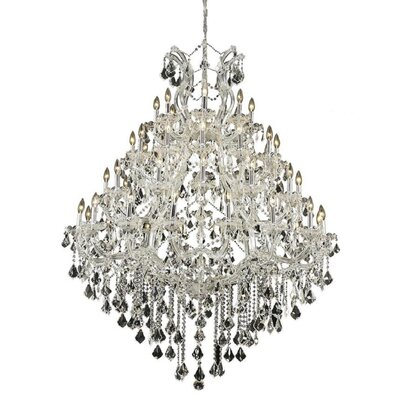 Regina 49-Light Up Lighting Crystal Chandelier Finish / Crystal Color / Crystal Trim: Chrome / Crystal (Clear) / Spectra Swarovski