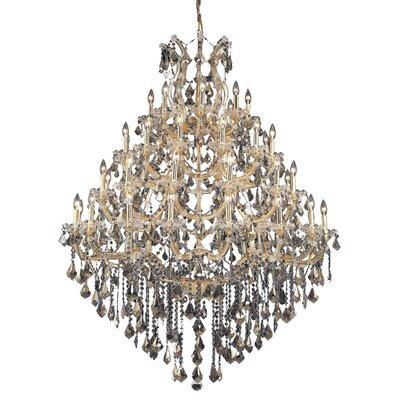 Regina 49-Light Up Lighting Crystal Chandelier Finish / Crystal Color / Crystal Trim: Gold / Golden Teak (Smoky) / Strass Swarovski