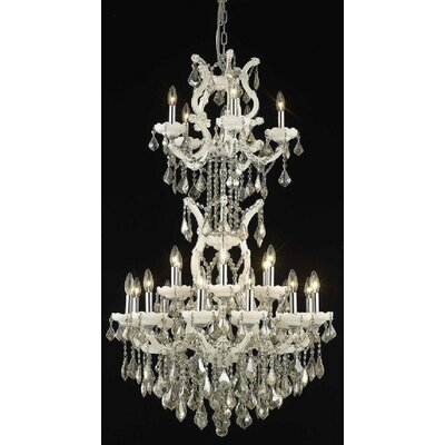 Regina 25-Light Crystal Chandelier Finish / Crystal Finish / Crystal Trim: White / Golden Teak (Smoky) / Strass Swarovski