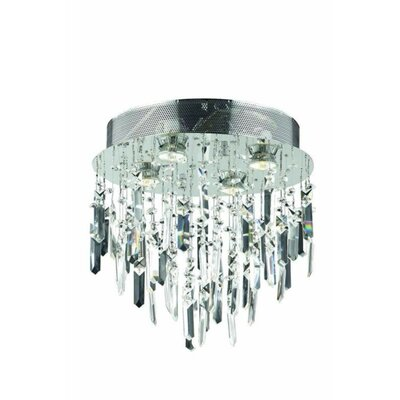 Colne 4-Light Flush Mount Crystal Grade: Royal Cut