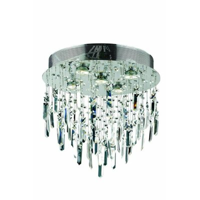 Colne  5-Light Flush Mount Crystal Grade: Elegant Cut