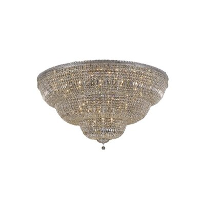 Fulham 48-Light Tapered Layers Flush Mount Finish: Chrome, Crystal Grade: Swarovski Element