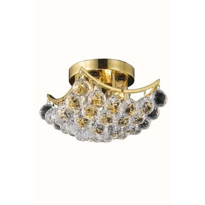 Hatton 4-Light Semi Flush Mount Finish: Gold, Crystal Grade: Royal Cut