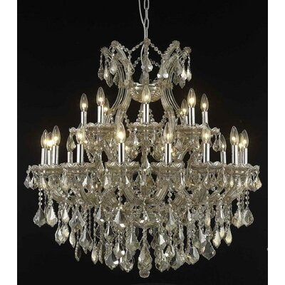 Regina 24-Light Crystal Chandelier Finish / Crystal Finish / Crystal Trim: Golden Teak / Golden Teak (Smoky) / Royal Cut