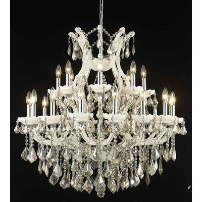 Regina 24-Light Crystal Chandelier Finish / Crystal Color / Crystal Trim: White / Golden Teak (Smoky) / Strass Swarovski