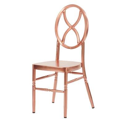 Kunkel Velika Series Stackable Sandglass Aluminum Dining Chair Color: Rose Gold