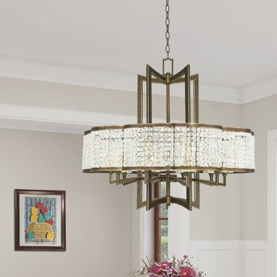 Wetzel 10-Light Crystal Chandelier Finish: Hand Painted Palacial Bronze