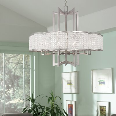 Wetzel 10-Light Crystal Chandelier Finish: Brushed Nickel