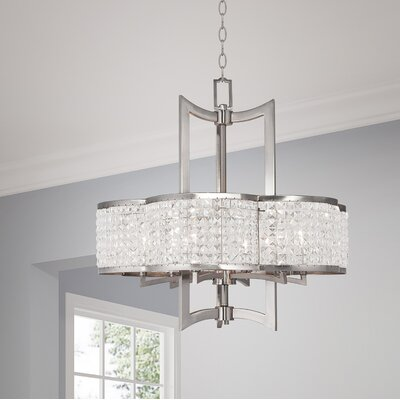 Wetzel 6-Light Crystal Chandelier Finish: Brushed Nickel