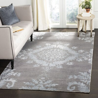 Bottesford Hand-Knotted Gray Area Rug Rug Size: Rectangle 5 x 8