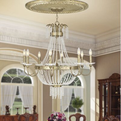 Rachedi 8-Light Crystal Chandelier Finish: Brushed Nickel