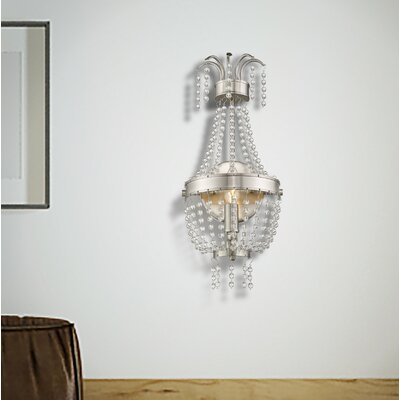 Rachedi 1-Light Crystal Pendant Finish: Brushed Nickel