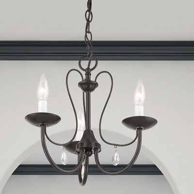 Winona 3-Light Semi Flush Mount Finish: English Bronze