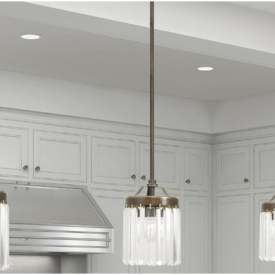 Caroline 1-Light Mini Pendant Finish: Palacial Bronze