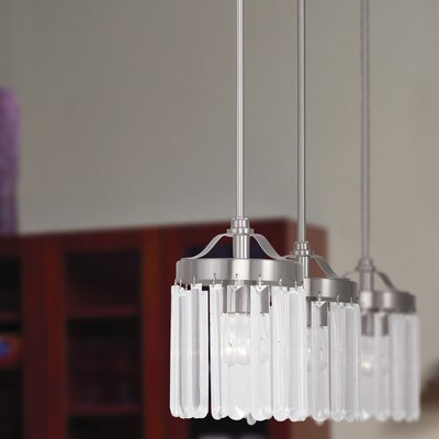 Caroline 1-Light Mini Pendant Finish: Brushed Nickel