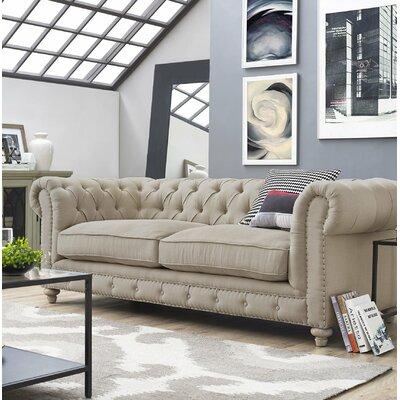 Lennert Chesterfield Sofa Upholstery: Beige