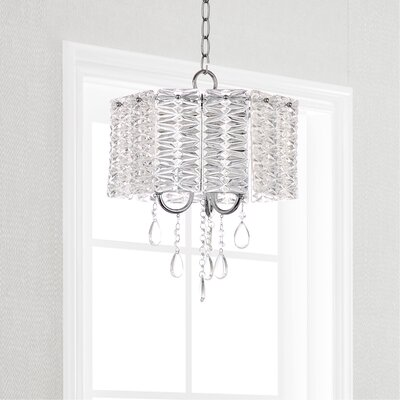 Zeppelin 3-Light Crystal Chandelier Finish: Chrome