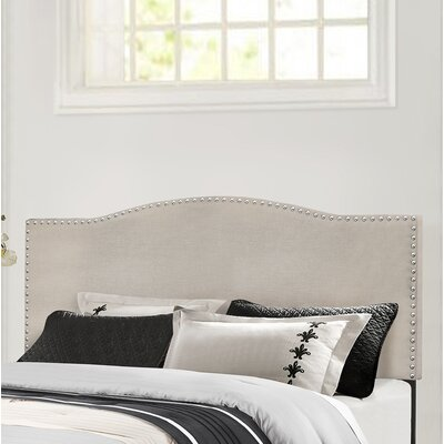 Upholstered Panel Headboard Size: Full/Queen, Upholstery: Fog