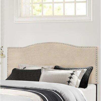 Upholstered Panel Headboard Size: Full/Queen, Upholstery: Linen