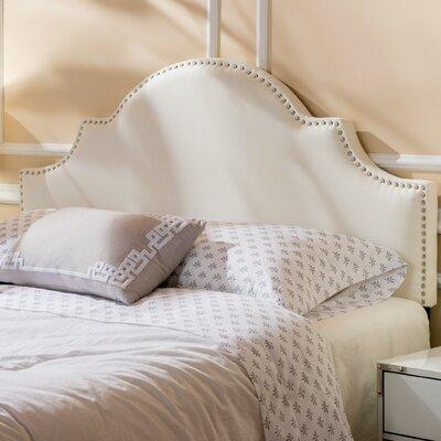 Corbett Upholstered Panel Headboard Upholstery: Ivory, Size: Full/Queen