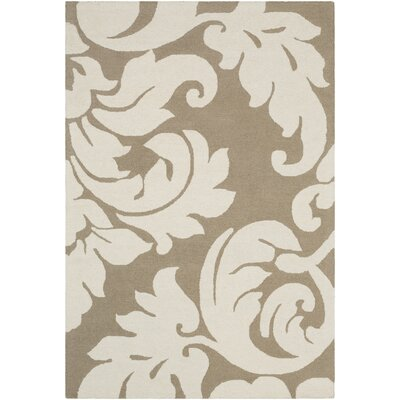 Lachance Hand-Tufted Gray Area Rug Rug Size: 5 x 76