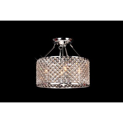 Mckean Round 4-Light Semi Flush Mount
